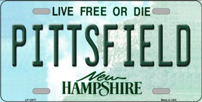 Pittsfield New Hampshire State Novelty Metal License Plate LP-12077