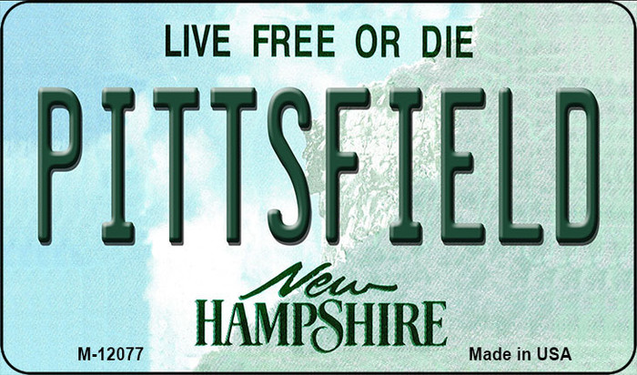 Pittsfield New Hampshire State Novelty Metal Magnet M-12077