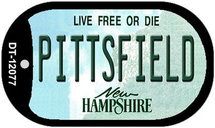 Pittsfield New Hampshire State Novelty Metal Dog Tag Necklace DT-12077