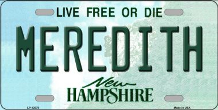 Meredith New Hampshire State Novelty Metal License Plate LP-12078