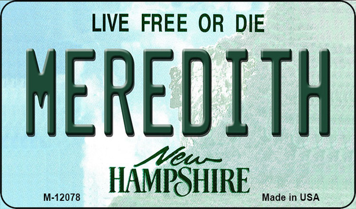 Meredith New Hampshire State Novelty Metal Magnet M-12078
