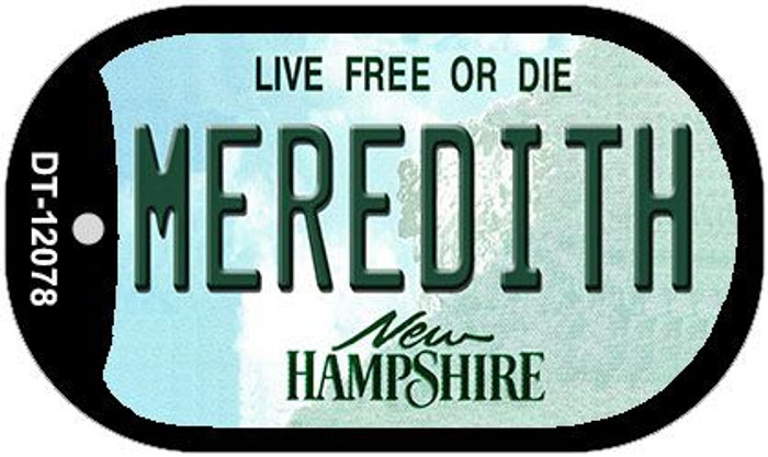 Meredith New Hampshire State Novelty Metal Dog Tag Necklace DT-12078