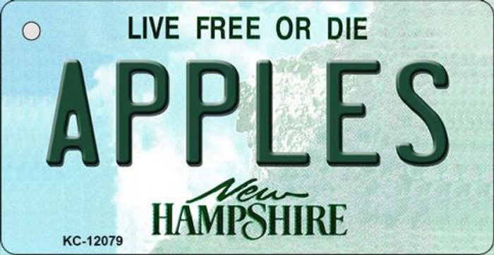 Apples New Hampshire State Novelty Metal Key Chain KC-12079