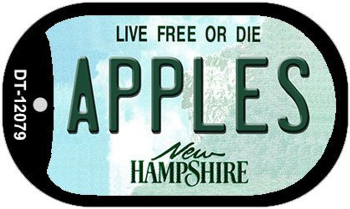 Apples New Hampshire State Novelty Metal Dog Tag Necklace DT-12079