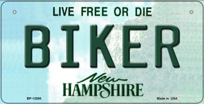 Biker New Hampshire State Novelty Metal Bicycle Plate BP-12080