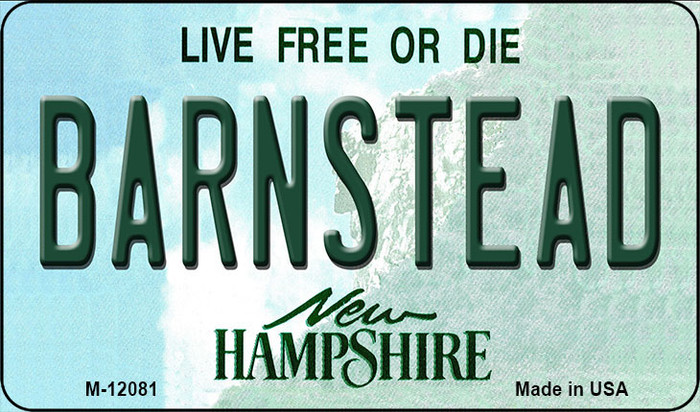 Barnstead New Hampshire State Novelty Metal Magnet M-12081