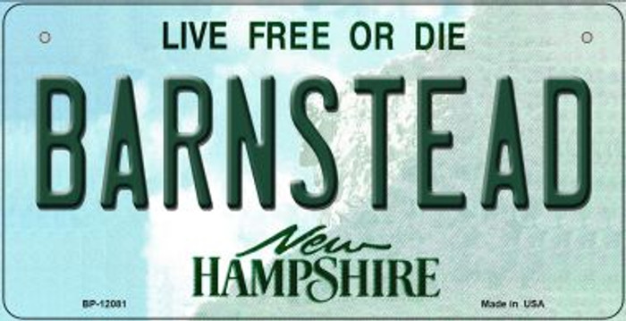 Barnstead New Hampshire State Novelty Metal Bicycle Plate BP-12081
