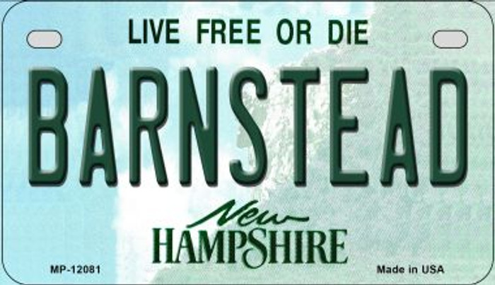 Barnstead New Hampshire State Novelty Metal Motorcycle Plate MP-12081