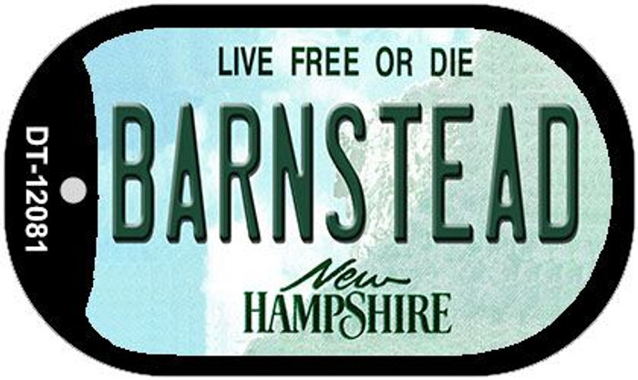 Barnstead New Hampshire State Novelty Metal Dog Tag Necklace DT-12081