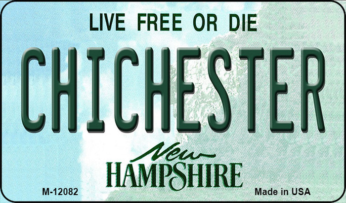 Chichester New Hampshire State Novelty Metal Magnet M-12082