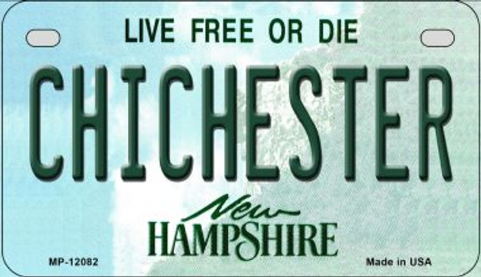 Chichester New Hampshire State Novelty Metal Motorcycle Plate MP-12082