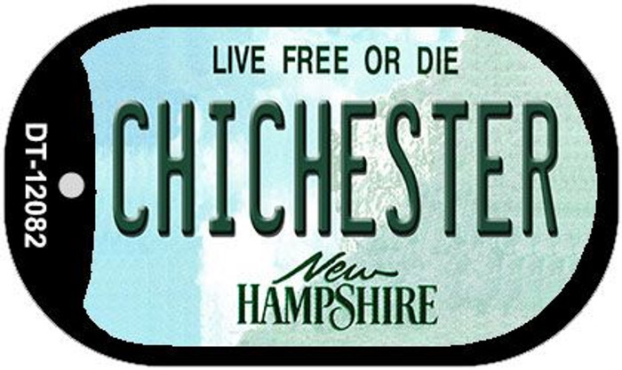 Chichester New Hampshire State Novelty Metal Dog Tag Necklace DT-12082