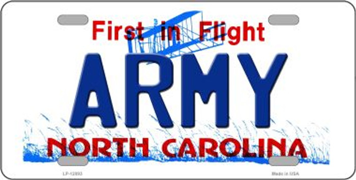 Army North Carolina State Novelty Metal License Plate LP-12093
