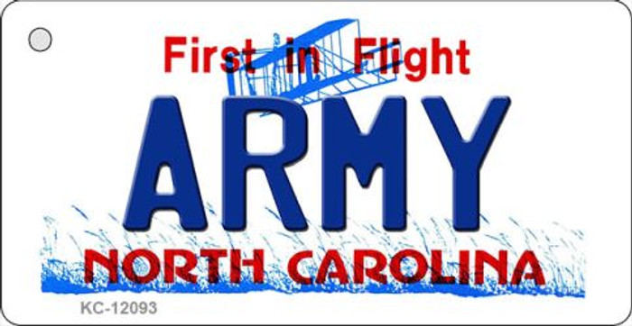 Army North Carolina State Novelty Metal Key Chain KC-12093