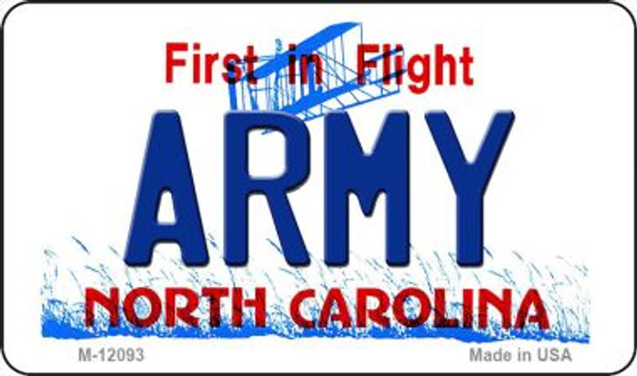 Army North Carolina State Novelty Metal Magnet M-12093
