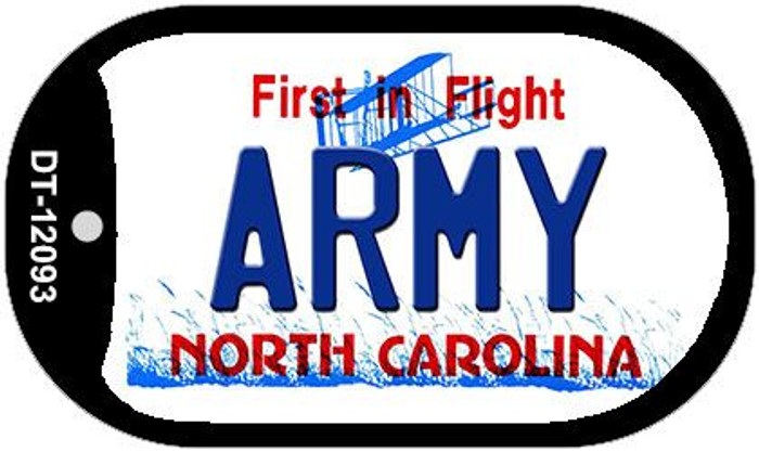 Army North Carolina State Novelty Metal Dog Tag Necklace DT-12093