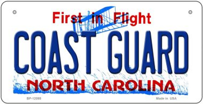 Coast Guard North Carolina State Novelty Metal Bicycle Plate BP-12095