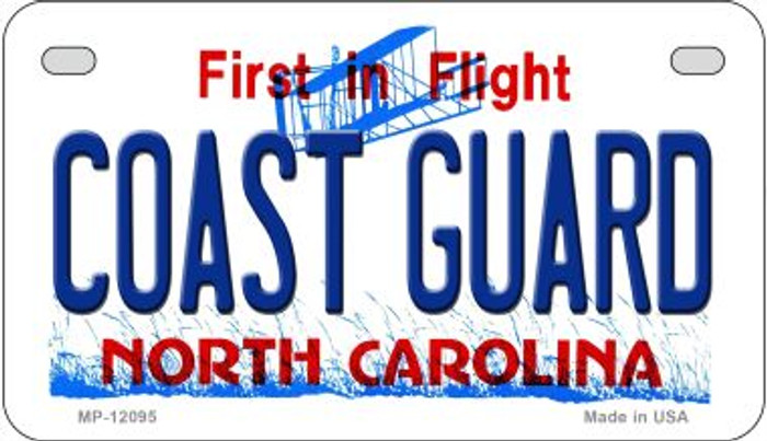 Coast Guard North Carolina State Novelty Metal Motorcycle Plate MP-12095