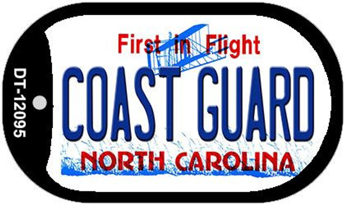 Coast Guard North Carolina State Novelty Metal Dog Tag Necklace DT-12095