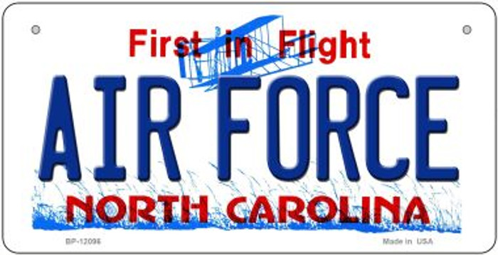 Air Force North Carolina State Novelty Metal Bicycle Plate BP-12096
