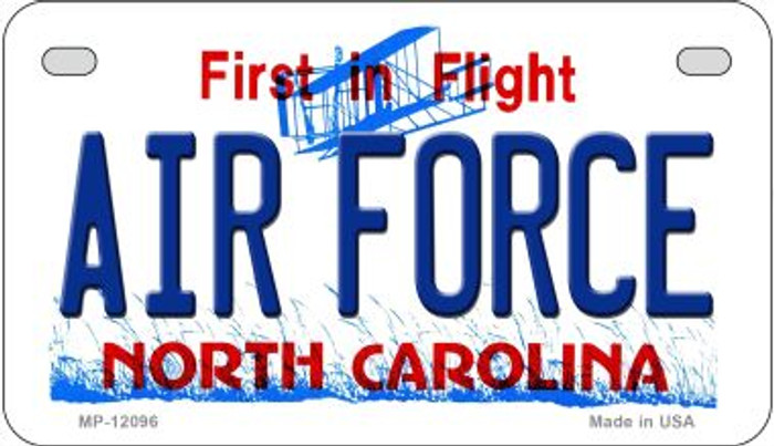 Air Force North Carolina State Novelty Metal Motorcycle Plate MP-12096