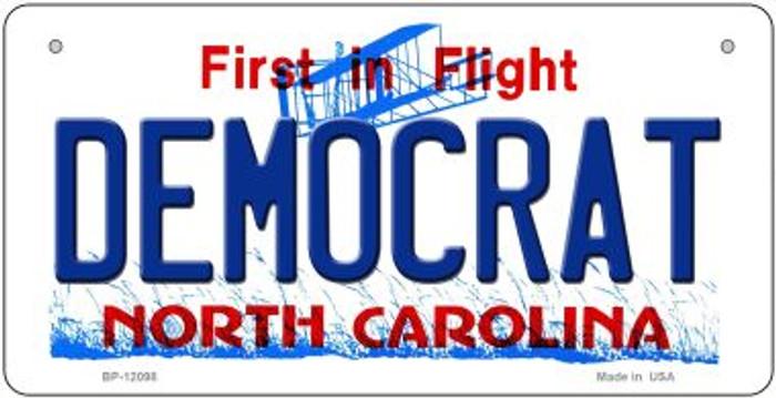 Democrat North Carolina State Novelty Metal Bicycle Plate BP-12098