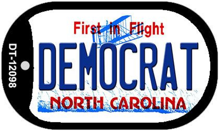 Democrat North Carolina State Novelty Metal Dog Tag Necklace DT-12098