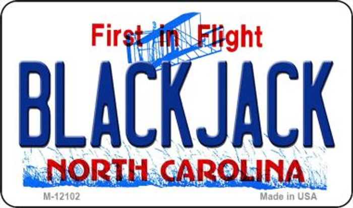 Blackjack North Carolina State Novelty Metal Magnet M-12102