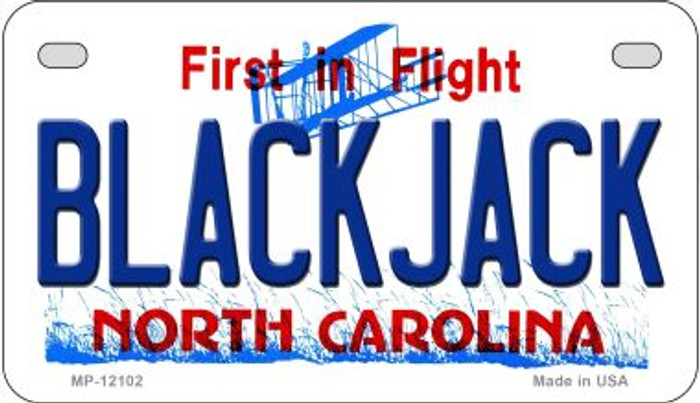 Blackjack North Carolina State Novelty Metal Motorcycle Plate MP-12102