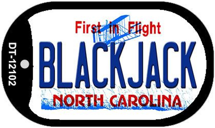 Blackjack North Carolina State Novelty Metal Dog Tag Necklace DT-12102
