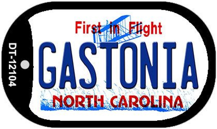 Gastonia North Carolina State Novelty Metal Dog Tag Necklace DT-12104