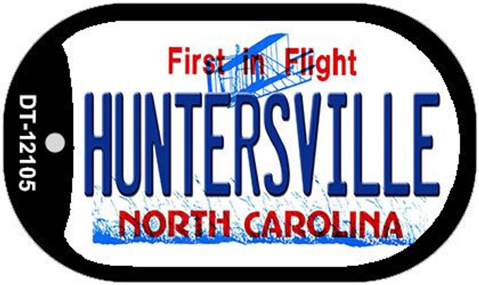 Huntersville North Carolina State Novelty Metal Dog Tag Necklace DT-12105