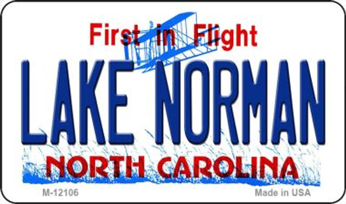 Lake Norman North Carolina State Novelty Metal Magnet M-12106