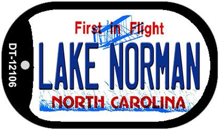 Lake Norman North Carolina State Novelty Metal Dog Tag Necklace DT-12106