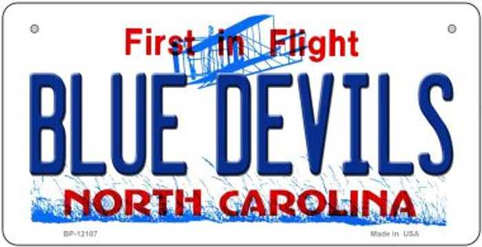 Blue Devils North Carolina State Novelty Metal Bicycle Plate BP-12107