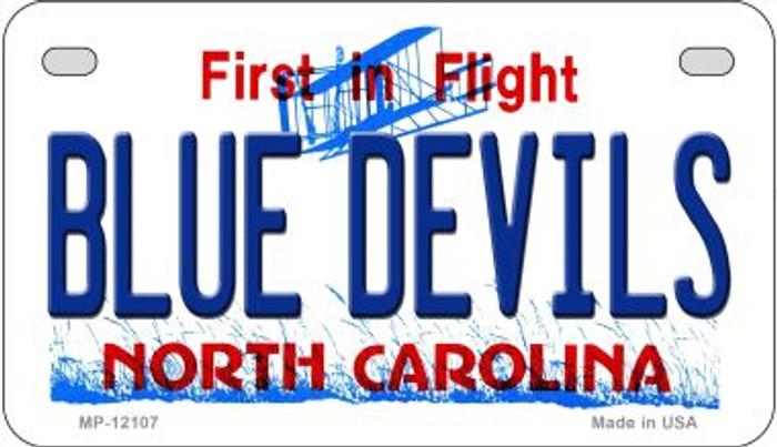 Blue Devils North Carolina State Novelty Metal Motorcycle Plate MP-12107