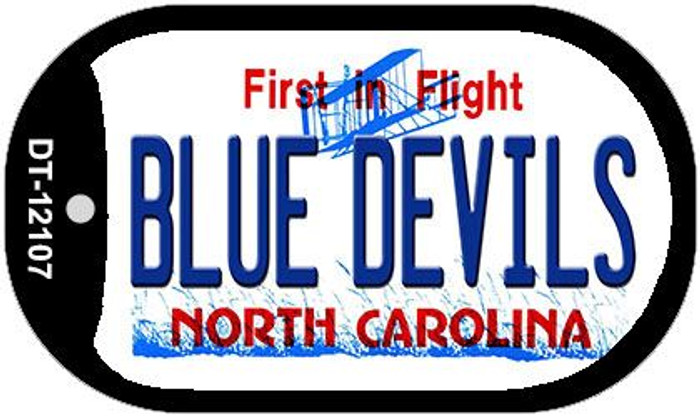 Blue Devils North Carolina State Novelty Metal Dog Tag Necklace DT-12107