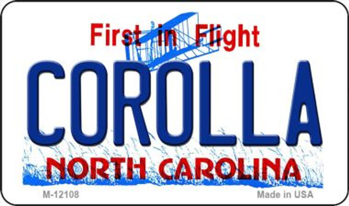 Corolla North Carolina State Novelty Metal Magnet M-12108