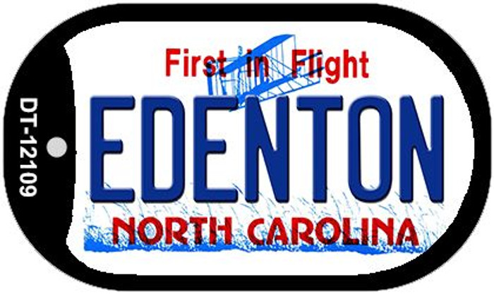 Edenton North Carolina State Novelty Metal Dog Tag Necklace DT-12109