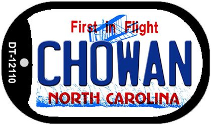 Chowan North Carolina State Novelty Metal Dog Tag Necklace DT-12110