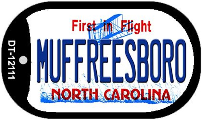 Muffreesboro North Carolina State Novelty Metal Dog Tag Necklace DT-12111