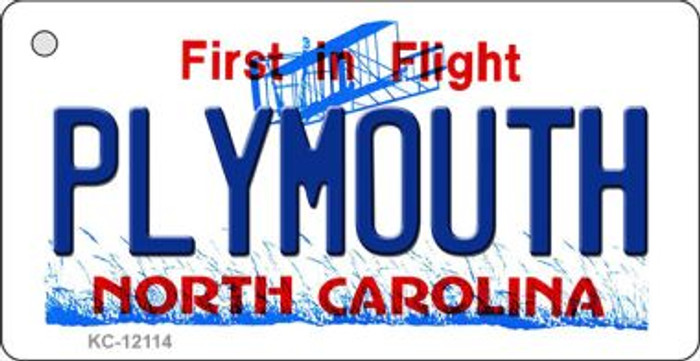 Plymouth North Carolina State Novelty Metal Key Chain KC-12114