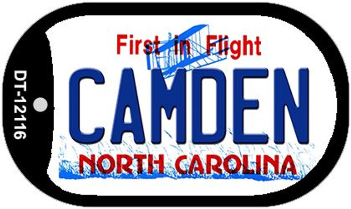 Camden North Carolina State Novelty Metal Dog Tag Necklace DT-12116
