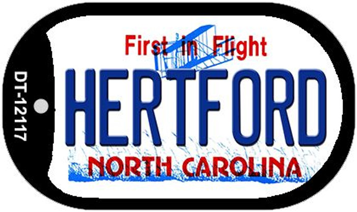 Hertford North Carolina State Novelty Metal Dog Tag Necklace DT-12117