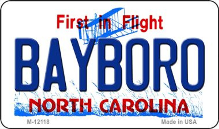 Bayboro North Carolina State Novelty Metal Magnet M-12118