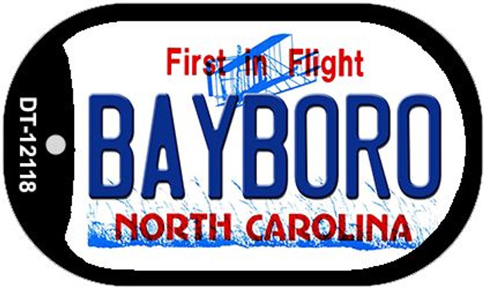 Bayboro North Carolina State Novelty Metal Dog Tag Necklace DT-12118