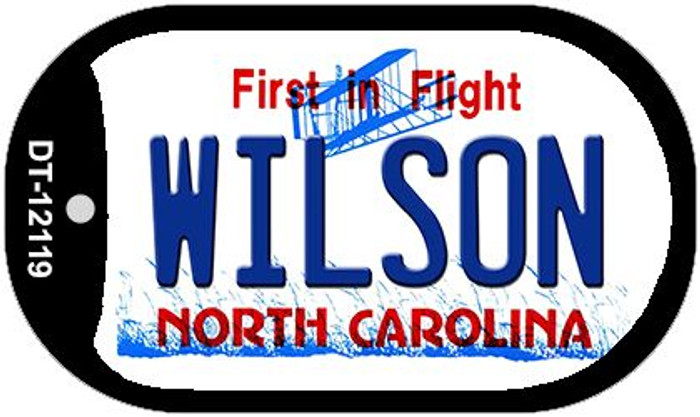 Wilson North Carolina State Novelty Metal Dog Tag Necklace DT-12119