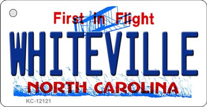 Whiteville North Carolina State Novelty Metal Key Chain KC-12121