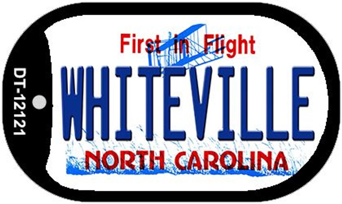Whiteville North Carolina State Novelty Metal Dog Tag Necklace DT-12121