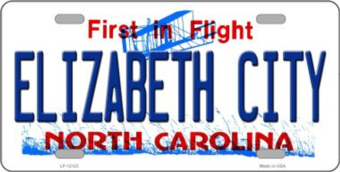 Elizabeth City North Carolina State Novelty Metal License Plate LP-12123